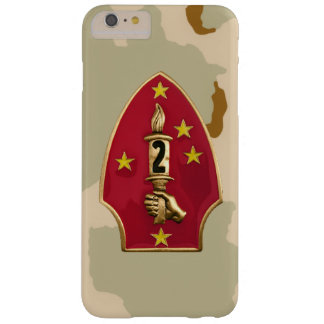 """2nd Marine Division""""The Silent Second"""" Desert Camo Barely There iPhone 6 Plus Case"""
