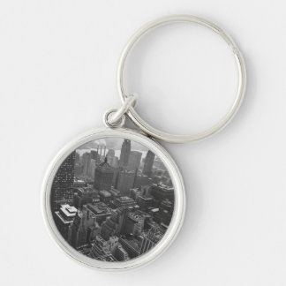 2nd May 1961:  The Chrysler building in New York Silver-Colored Round Key Ring