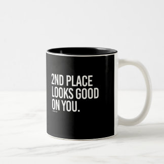 2nd place looks good on you -   Running Fitness -. Two-Tone Coffee Mug