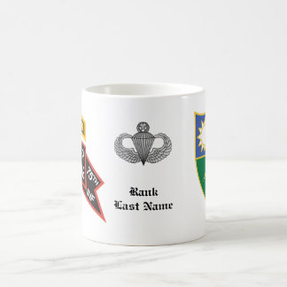 2nd Ranger Battalion old-style scroll with tab Basic White Mug