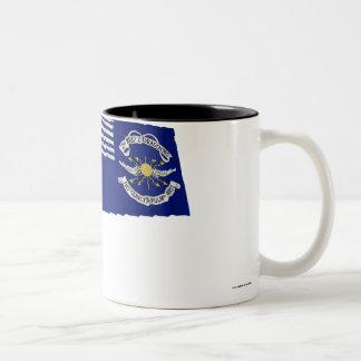2nd Regt Lt Dragoons Waving Flag Two-Tone Coffee Mug