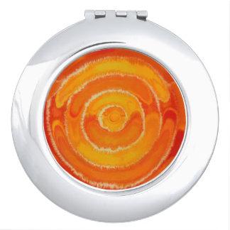 2nd-Sacral Chakra #1 Orange Mixed Media Travel Mirror