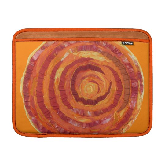 2nd-Sacral Chakra Artwork Fabric- Paint #2 Sleeve For MacBook Air