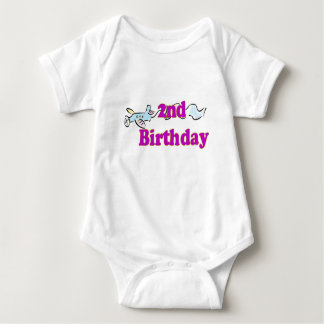 2nd second birthday aeroplane banner t-shirt