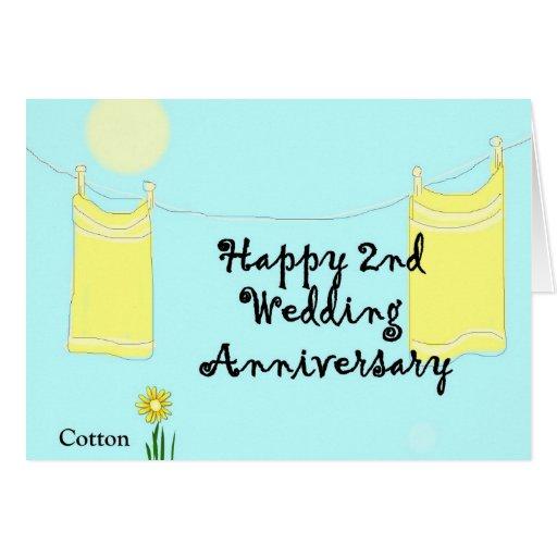 2nd Wedding Anniversary Greeting Card