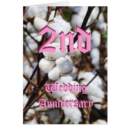 2nd wedding anniversary card - Cotton