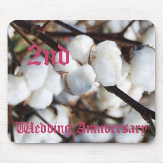 2nd wedding anniversary - Cotton Mouse Mat