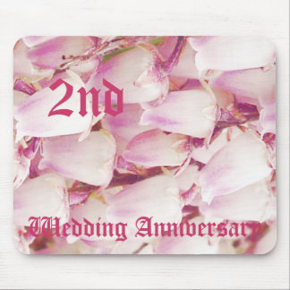 2nd wedding anniversary - Lily of the valley Mouse Mat