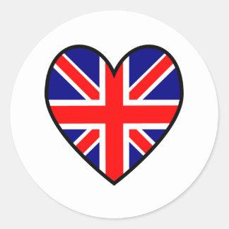 2unionjackheart round sticker