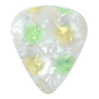2x2 Little Faces YxG Pearl Celluloid Guitar Pick