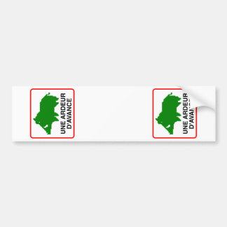 2x STICKER CONVEYS WILD BOAR adjustable (immatri.) Bumper Sticker