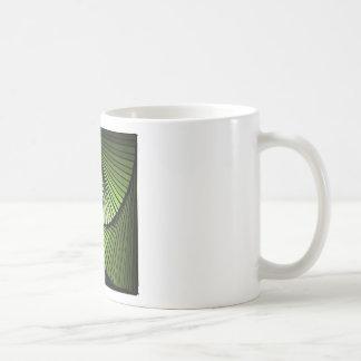 3次元スパイラルグリーン BASIC WHITE MUG
