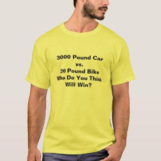 3000 Pound Car vs. 20 Pound BikeWho Do You Thin... T-Shirt