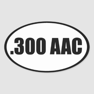 .300 AAC OVAL STICKER