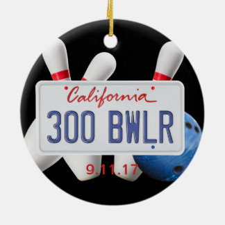 300 Bwlr, California License Place, 300 Game Christmas Ornament