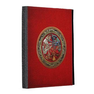 300 Celtic Treasures - Three Dogs on Gold iPad Folio Cases
