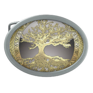 [300] Celtic Tree of Life [Gold] Belt Buckles