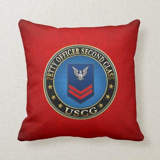[300] CG: Petty Officer Second Class (PO2) Throw Pillows