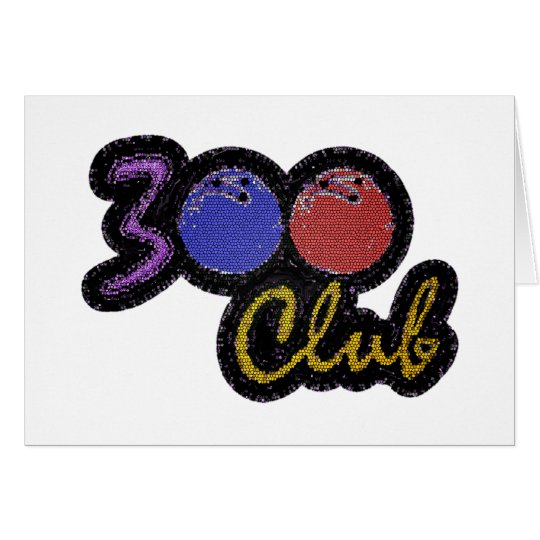 300 CLUB PERFECT GAME IN BOWLING CARD