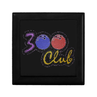 300 CLUB PERFECT GAME IN BOWLING SMALL SQUARE GIFT BOX