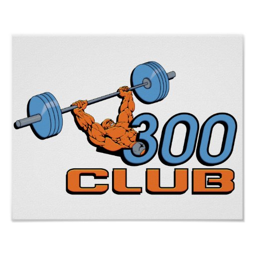 300 Club Weightlifting Poster