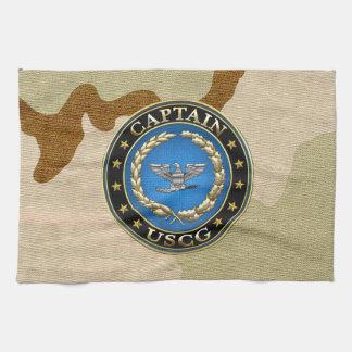 [300] Coast Guard: Captain (CAPT) Hand Towel