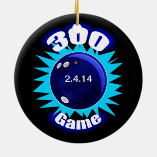 300 Game Blues Round Ceramic Decoration