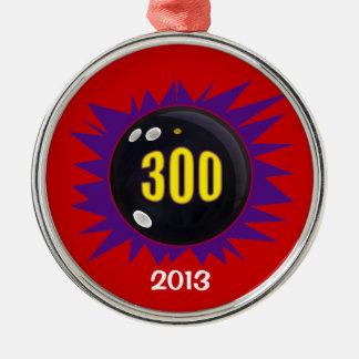 300 Game Round Metal Christmas Ornament