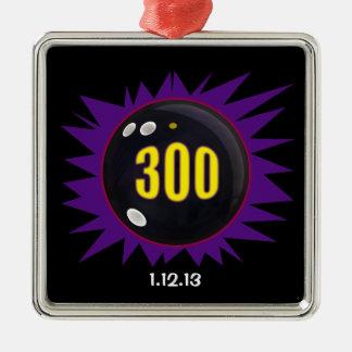 300 Game Square Metal Christmas Ornament