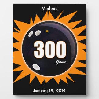 300 Game Orange & Black Plaque