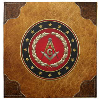 [300] Masonic Square and Compasses [3rd Degree] Napkins