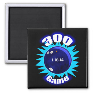 300 Perfect Game Blues Square Magnet