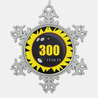 300 Perfect Game Yellow Pewter Snowflake Decoration