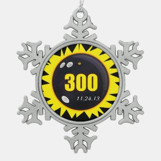 300 Perfect Game Yellow Pewter Snowflake Decoration