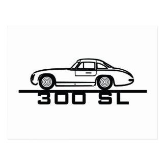 300 SL Panamericana Gullwing Racer Postcard