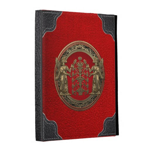 [300] Two Gold Ninurtas with Tree of Life Ipad Case