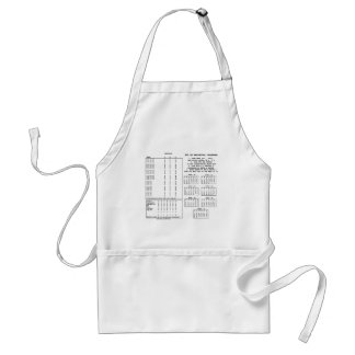 300 Year Perpetual Calendar (Day Of The Week) Standard Apron