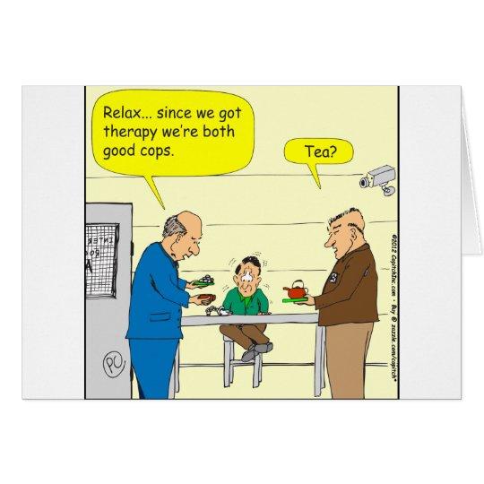 302 good cops Cartoon Card