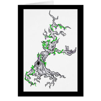 303 tree note card
