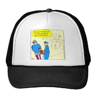 304 stole second base cartoon cap