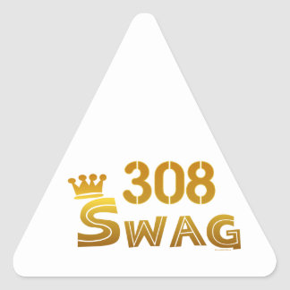 308 Nebraska Swag Triangle Sticker