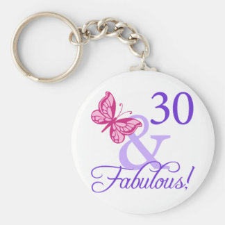 30 And Fabulous Birthday Basic Round Button Key Ring