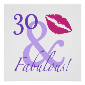 30 And Fabulous Poster