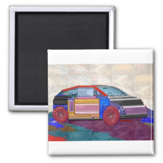30 Artistic Variety Collection Square Magnet