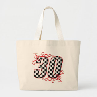 30 auto racing number canvas bag