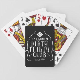 30 Birthday 30 Years Old Dirty 30 Poker Deck