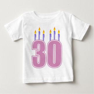 30 Birthday Candles (Pink / Purple) Baby T-Shirt