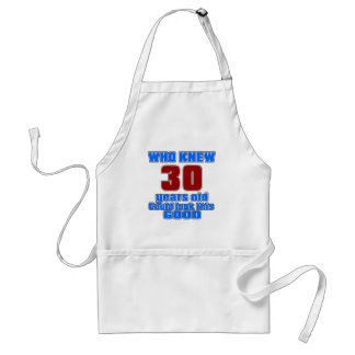 30 birthday designs standard apron