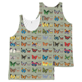 30 Butterfly Species from Around the World All-Over Print Tank Top