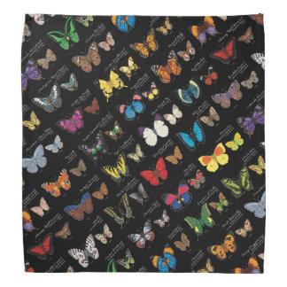 30 Butterfly Species from Around the World (Dark) Bandana